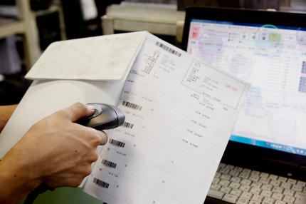 CiPS生産管理システムによる一貫生産の写真